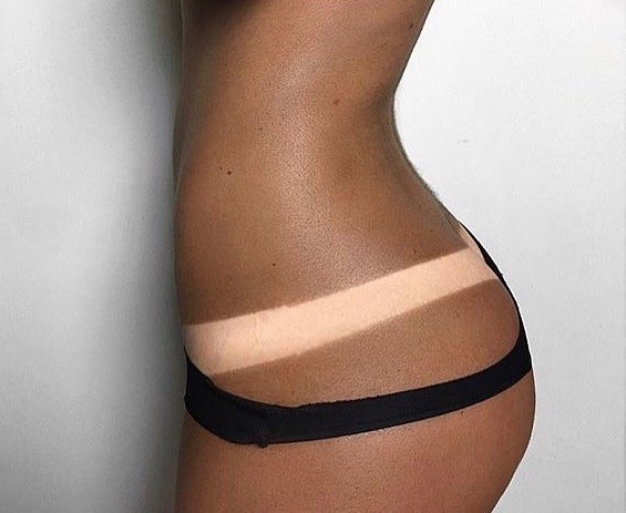 spray tan thick tan line
